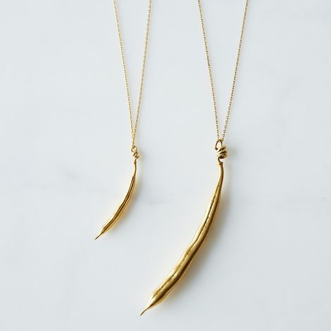 Gold Bean Necklace