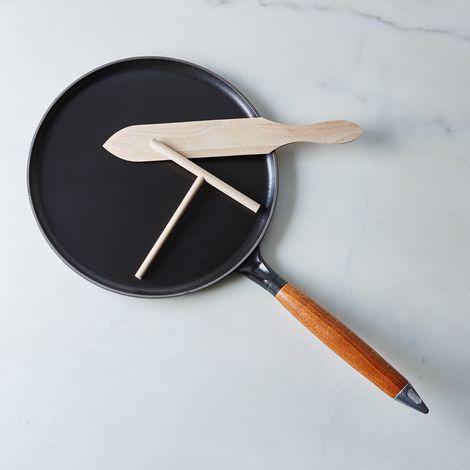 "Staub Cast Iron Crepe Pan, 11"", with Spreader & Spatula"