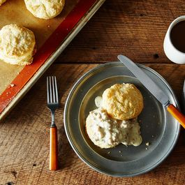Buttermilk Biscuits with Sausage Gravy