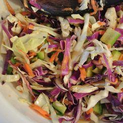 asian ginger & soy coleslaw salad