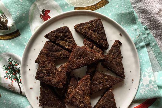 Dark Chocolate-Ginger Shortbread
