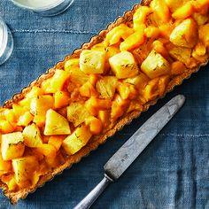 Roasted Pineapple-Mango Tart