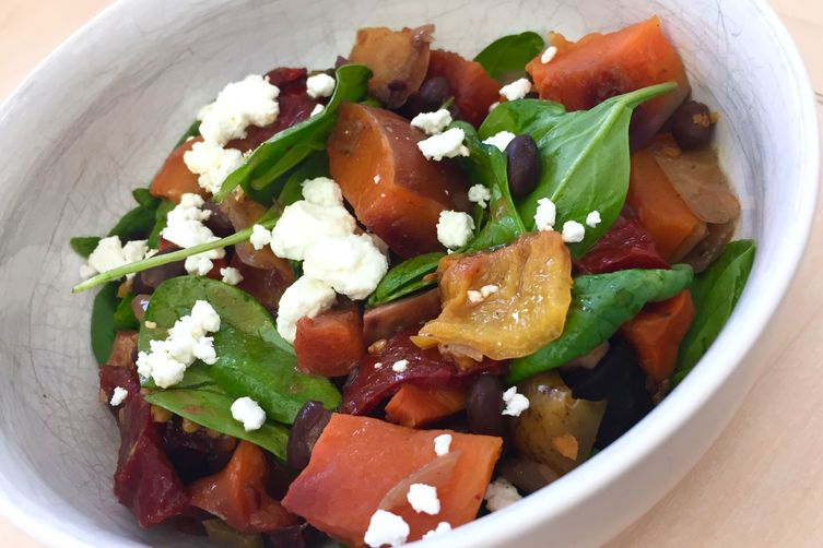Cheese Pumpkin Salad with Chipotle-Honey Viniagrette