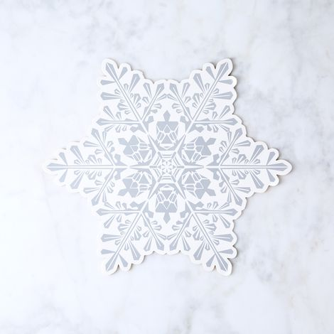 Snowflake Paper Placemats (Set of 12)