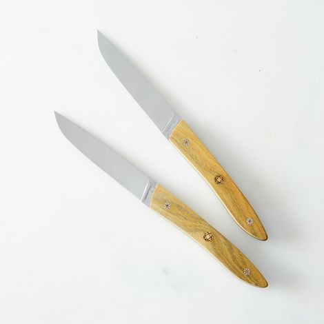 Adrets Gaiac Wood French Table Knives (Set of 2)