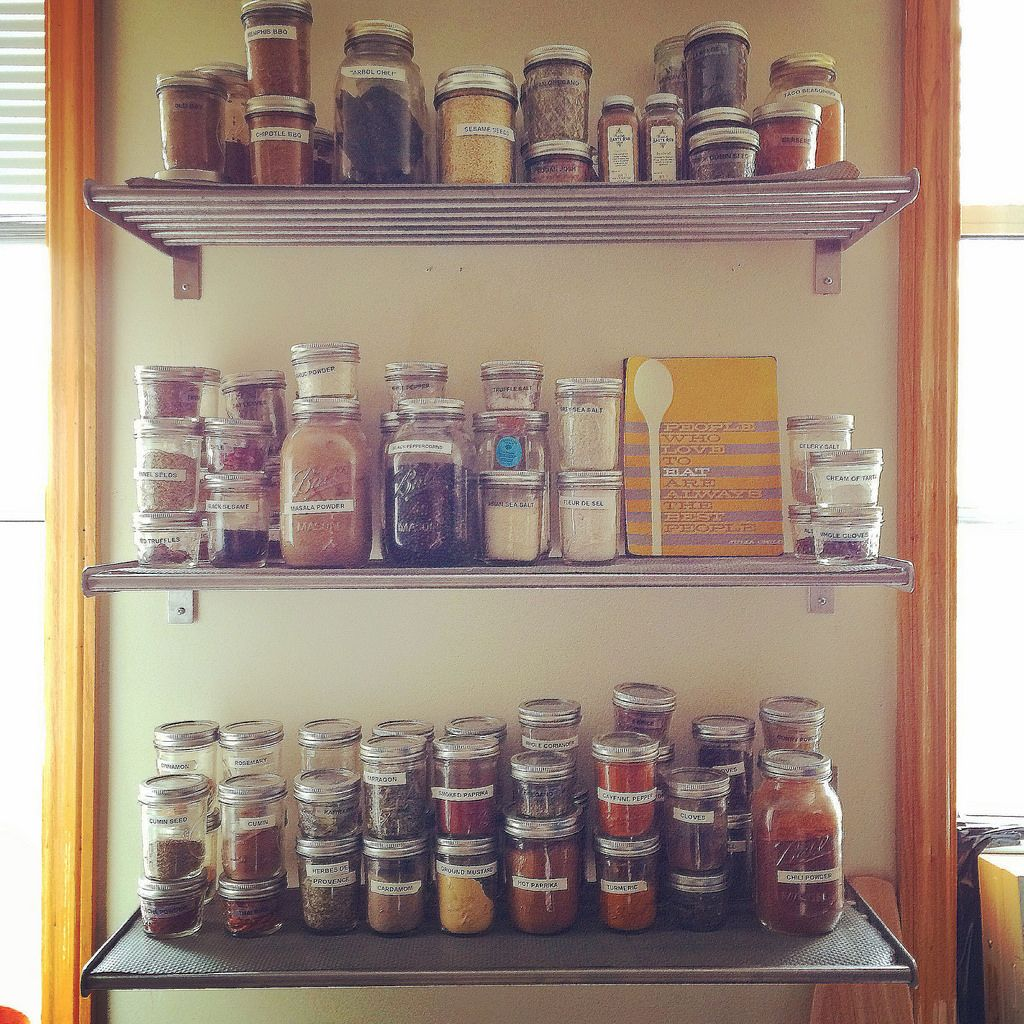 open spice shelves