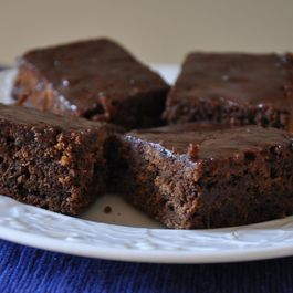 Gingerbread Bars with Hard Sauce Glaze