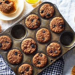 Mom's Favorite Blueberry-Bran Muffins