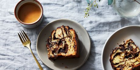 This chocolatey, buttery, swirly loaf is born