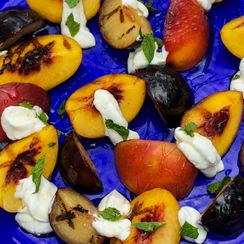Grilled Stone Fruit with Yogurt and Honey