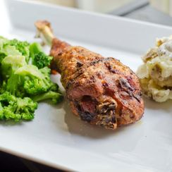 Baked Lemon & Ancho Chile Spiced Turkey Legs