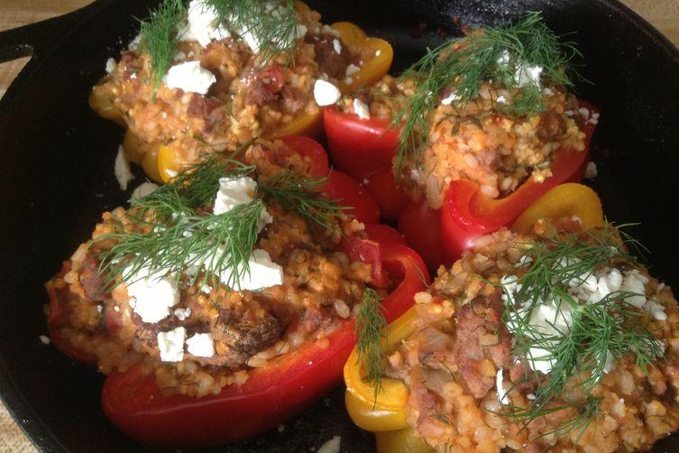 Lamb Stuffed Peppers