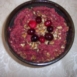 Cranberry Pecan Hummus with Vegan Graham Crackers
