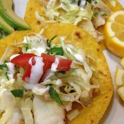California Halibut Tacos