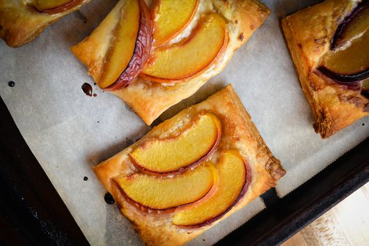Stone Fruit and Mascarpone Tarts