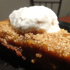 Pumpkin Pie with Gingersnap Crust and Cinnamon Whipped Cream