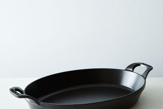Staub Medium Cast Iron Oval Roasting Dishes