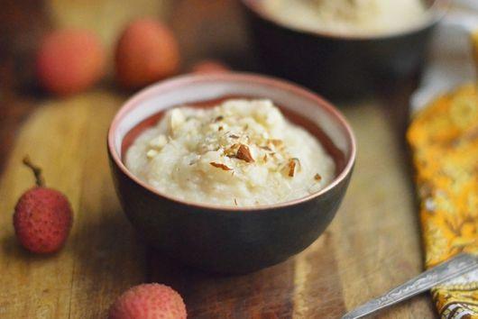 Lychee Rice Pudding
