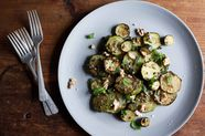 Sautéed Zucchini with Mint, Basil, and Walnuts