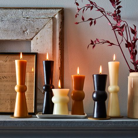 Hand Poured Beeswax Pillar Candles