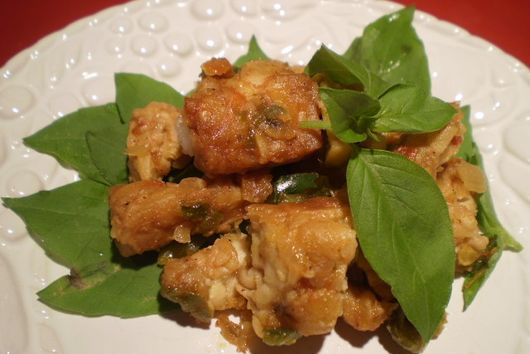 Tempeh Sambal with Basil