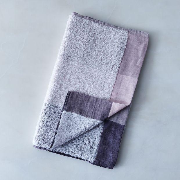 7f0d0cb61d727 Soft Linen & Cotton Colorblock Towels