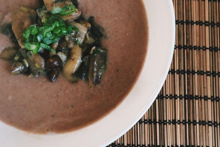 Borlotti & mushrooms