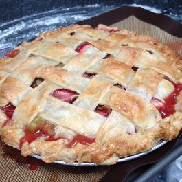 Strawberry-Rhubarb Pie a la Siciliana