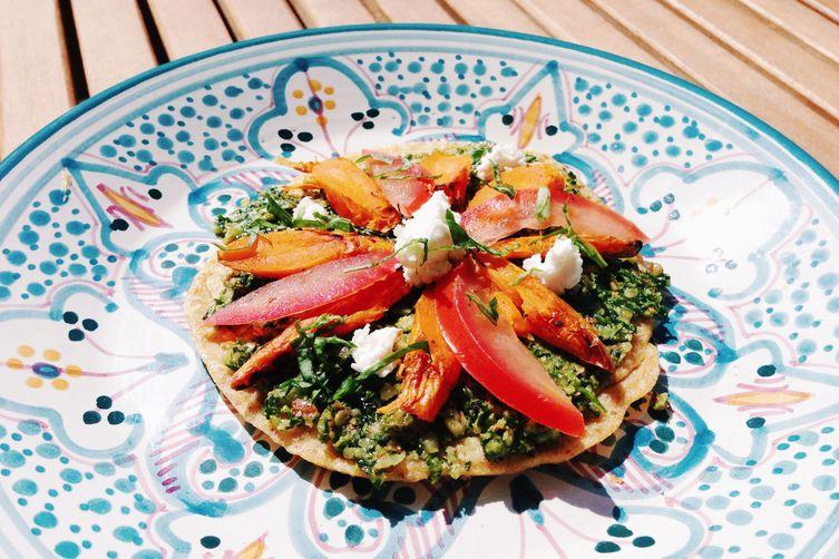 Carrot Top Pesto (Gluten Free Pizza):