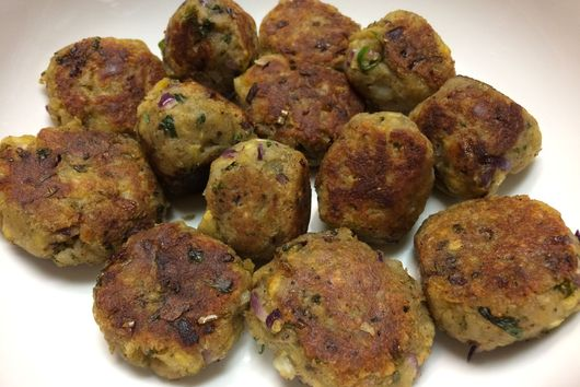 Herby Green Plantain Patties