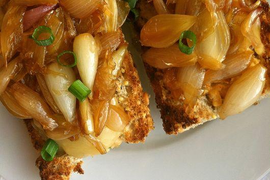 Spicy Tuna Melt with Caramelized Onions