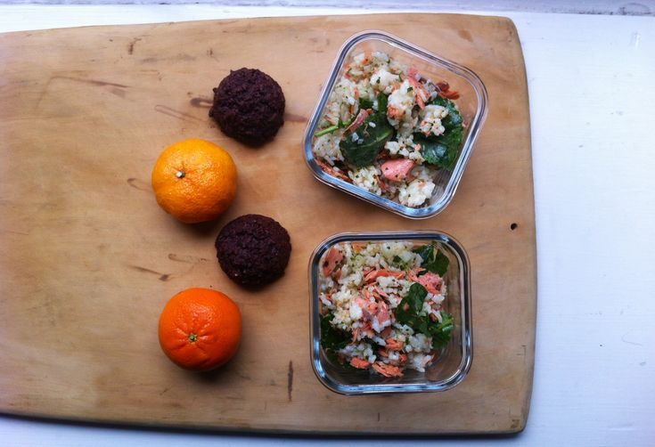 A Roast Salmon and Rice Salad