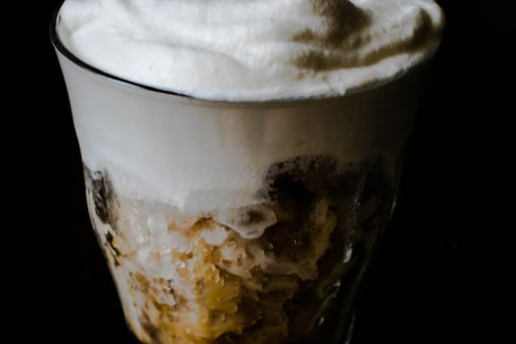 Chicory Coffee Granita with Bourbon Whipped Cream