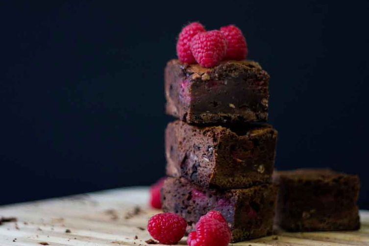 Dark Chocolate and Raspberry Brownies