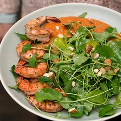 Grilled Prawns and Cress Salad
