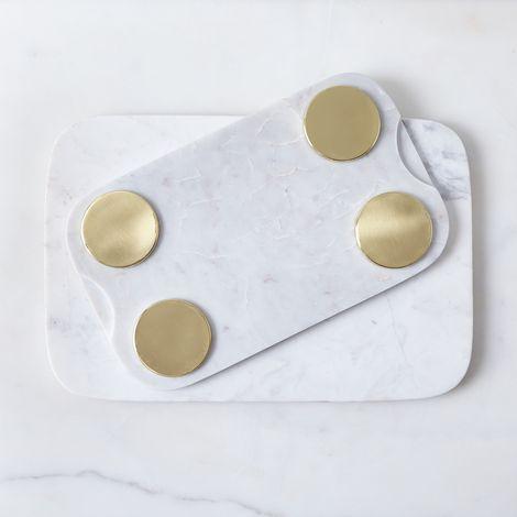 Marble & Metal Serving Board