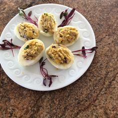 Carmelized onion corn eggs