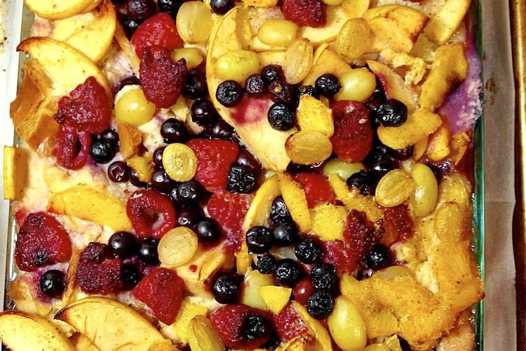 Bread Pudding with Prosecco-ed Fruits