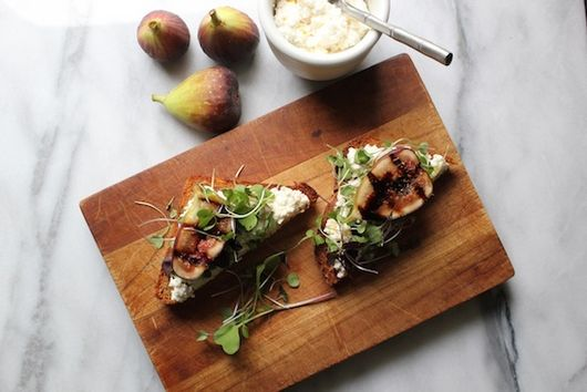 Balsamic Grilled Figs on Lemon Ricotta Toast