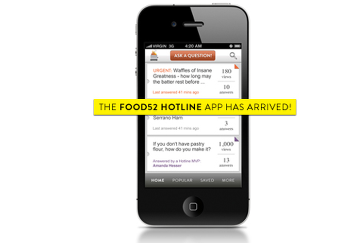 The FOOD52 Hotline App