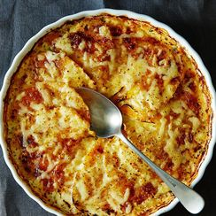 Autumn Root Vegetable Gratin with Herbs and Cheese
