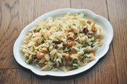 Orzo Salad with Scallions, Hazelnuts, and Golden Raisins