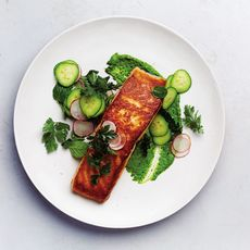476be2d2 6574 4806 8202 f74b229439ff  salmon with the greenest tahini sauce c michael graydon and nikole herriott
