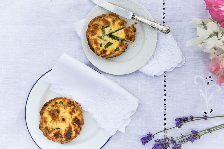 Asparagus and Pecorino Tartlets