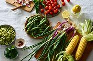 Charred Okra Succotash Salad