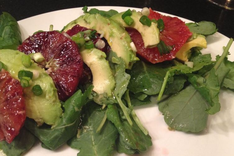Blood Orange, Avocado, and Baby Kale Salad