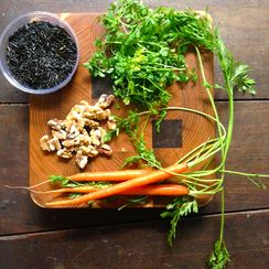 One-Pot Black Rice with Carrots and Walnuts