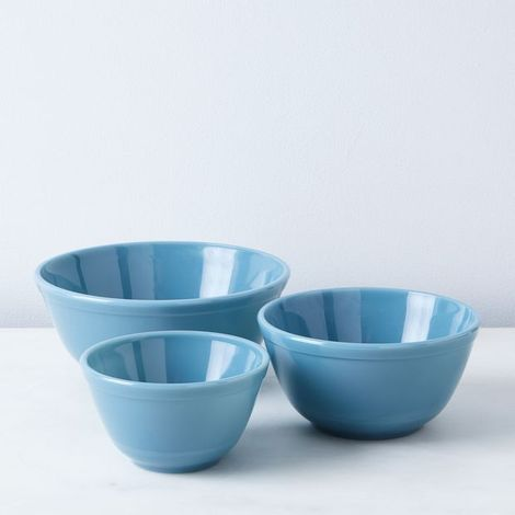 Glass 3-Piece Mixing Bowl Set