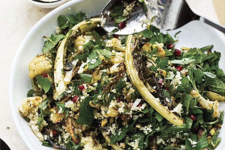 Ottolenghi's Cauliflower, Pomegranate, and Pistachio Salad