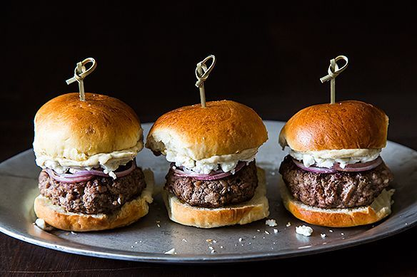 Lamb Sliders with Feta Cheese, Red Onions, and Cumin Mayonnaise by ...
